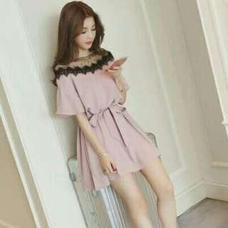 *FREE POST to West Malaysia only / Pre order +-12-15 days* Ladies lace stitching dress each as shown in design /color. Free delivery is applied for this item.