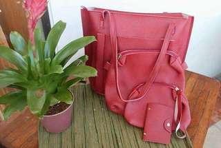 4 in 1 School Bag (Red)