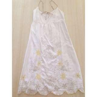 Esprit White Dress Cream Border