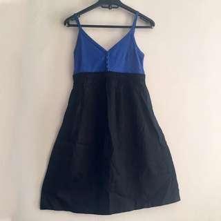 Mphosis Blue And Black Dress