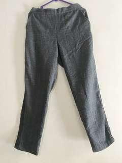 Tartan long pants