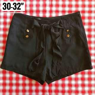 "30-32"" Highwaist  black Shorts"