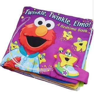 Elmo Twinkle Star Good Night Bedtime Story Baby Soft Washable Educational Alphabets Words Numbers Learning Cloth Book