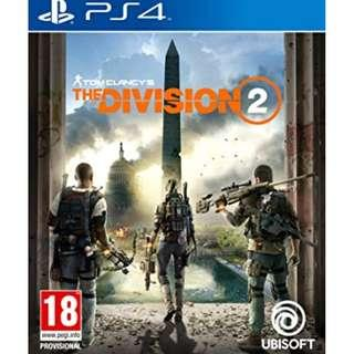 PS4 Tom Clancy The Division 2