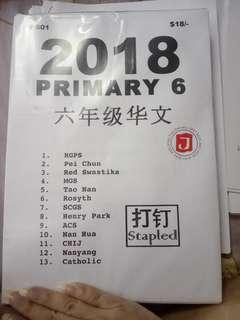 🚚 P6 2018 Top School Chinese practice paper