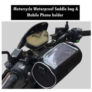 🚚 Saddle with Mobile Phone Bag for Motorcycle - XL