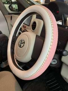 (女車主必備)全新 日本靚質地 粉紅色(S碼)仿皮方向軚套