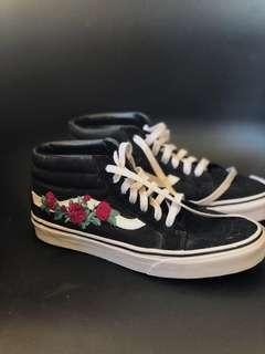 🚚 Vans Sk8 Mid Trainers with Floral Embroidery