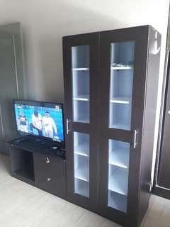 TV cabinet with glass divider