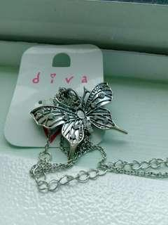 Diva Butterfly Long Chain Necklace #APR10