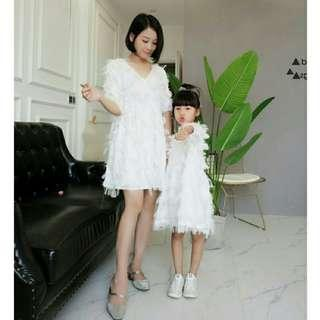 *FREE POST to West Malaysia only / Pre order +-12-15 days* Mother Daughter tassel dress each as shown in design /color. Free delivery is applied for this item.