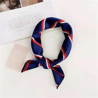 Brand new head, neck, bag scarf stripes blue red white