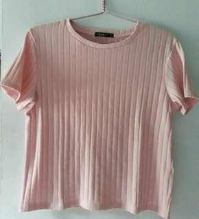 Bershka T-shirt pink