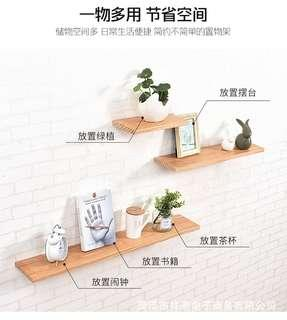 Wall shelf shelf word partition solid wood wall decoration creative living room wall hanging wall partition
