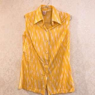 Preloved Yellow Pattern Top #paydaymaret