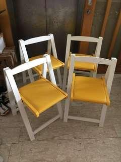 Free delivery 4 x BN foldable folding dining wooden chairs