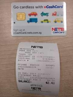 Cashcard with Chip ($5 card cost + $2.43 value)