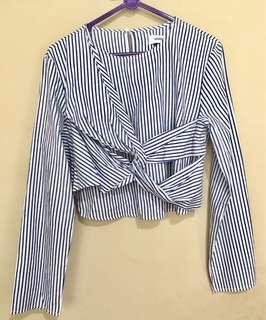 the editors market stripe shirt