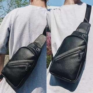 🚚 K5202 Single Stripe Chest Sling Sling Zip Bag