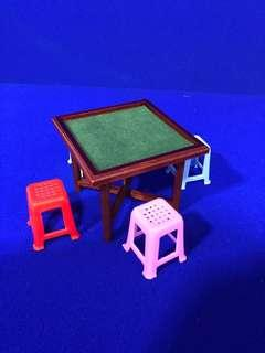 Handmade Miniature Dollhouse: Mahjong Set
