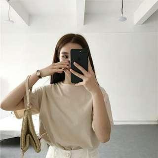 Korean Basic Plain T-shirt