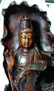 木雕觀音像-statue of Goddess Guanyin