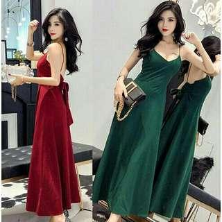 *FREE POST to West Malaysia only / Pre order +-12-15 days* Ladies back ribbon dress free size each as shown in design /color. Free delivery is applied for this item.
