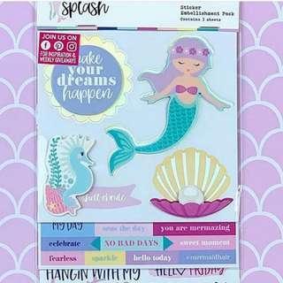 🚚 Scrapbook Stickers Embellishment Pack <Make a Splash>