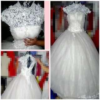 White Laces/Embroidered Gown Fabulous