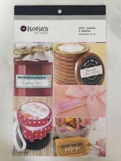 Gift Labels Scrapbook Sticker Pad