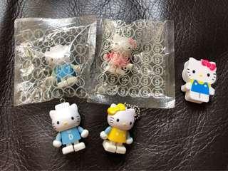 C 689–Hello Kitty 公仔(2004)2個+Dear Danial公仔(2004)2個+Kitty擦膠(2014)1件 $22