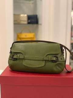 Salvatore Ferragamo Authentic Olive Green Handbag