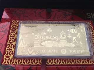 🚚 Singapore SG50 Sentonsa 5 gram SK gold Ingot