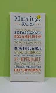 #MakeSpaceforLove Wedding Quote Canvas
