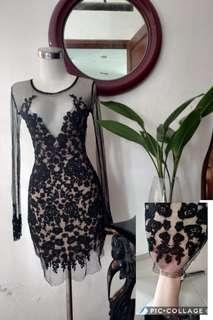 Dress lace brokat cantiq
