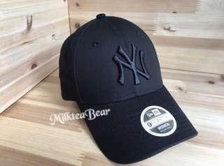 🇺🇸🇬🇧New Era 全黑NY 刺繡logo Women Cap (正版現貨)100%authentic