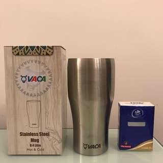 VACA 小牛角 0.4L 不銹鋼真空保溫杯 Stainless Steel Mug Hot & Cold
