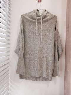 🚚 慵懶感➿灰色針織連帽長袖上衣#半價衣服市集