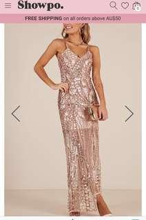 Long sequin formal style dress