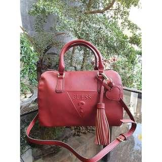 Guess Plain Doctor's Bag - Red
