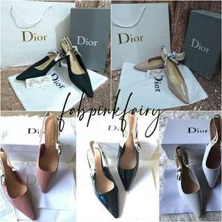 d852576779 38 AQ CLEARANCE SALE Dior Sling Kitten Heels Shoes Dior Kitten Heels Shoes  Dior Pumps Christian
