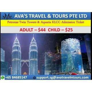 Petronas Twin Tower & Aquaria KLCC Admission Ticket