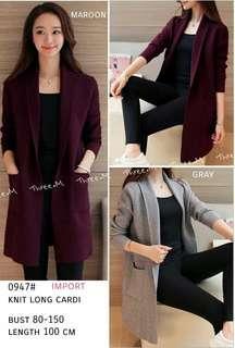 Outerwear Knit LONG Cardi