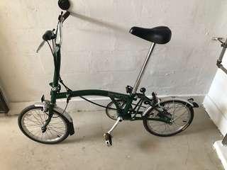Brompton M3L British Green Vintage Folding Bicycle