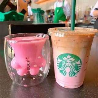 星巴克貓爪杯 貓爪杯 粉色貓爪杯