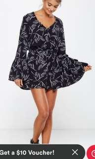 Cotton on navy printed romper