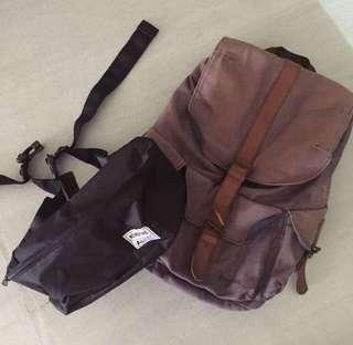 PAKET MURAH Tas Backpack Bounjour & Waistbag Noinbrand