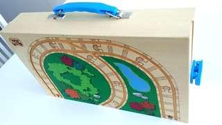 Thomas and friends train wooden storage box and trail