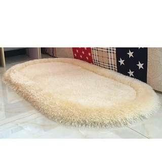 高貴超柔軟橢圖形地毯($228包送貨)70*140CM地毯坐墊布藝窗台墊