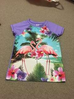 Flamingo rash vest
